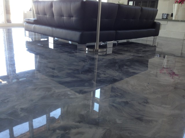 Metallic flooring is a one hundred percent solids, two element epoxy. From basement floor treatments to Kitchen area flooring covering.