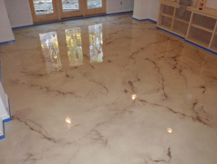 Metallic Epoxy Flooring Nh Ma Maine Concrete Contractor